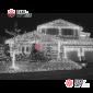 Светодиодная бахрома 3х0,5м цвет белый, провод прозрачный, IP44 ,постоянное свечение