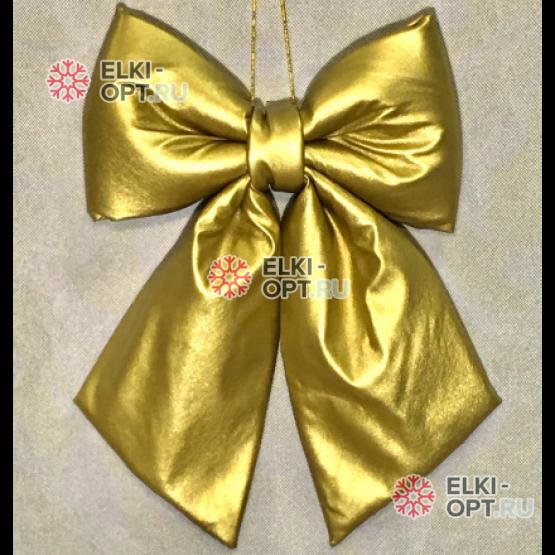 Бант  30см эко-кожа цвет золото
