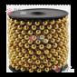 Бусы пластиковые d-14мм цвет золото