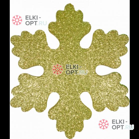 Снежинка Искра d-20 см цвет золотой ( 5шт/уп.)