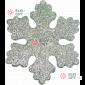 Снежинка Искра d-20 см цвет серебряный ( 5шт/уп.)
