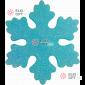 Снежинка ИСКРА d-20 см цвет бирюзовый ( 5шт уп.)