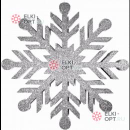 Снежинка Резная d-30 см цвет серебряный (1шт/уп)