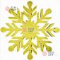 Снежинка Резная d-30 см цвет золотой (1шт/уп)