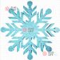 Снежинка Резная d-30см цвет бирюзовый (1шт/уп)