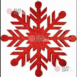 Снежинка Резная d-50см цвет красный (1шт/уп)