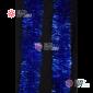 Мишура новогодняя Московская d-7см цвет синий длина 2м (упак. 10шт)