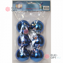 Шары d-6см цвет синий глянец 72уп х 85руб