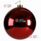 Шар пластиковый 20см цвет красный глянец (1шт/уп)