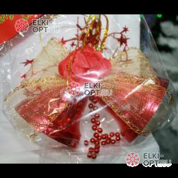 Елочное украшение Колокольчики 11см цвет красный